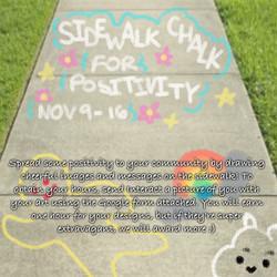 Sidewalk Chalk for Positivity