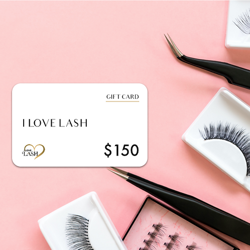 I LOVE LASH GIFT CARD