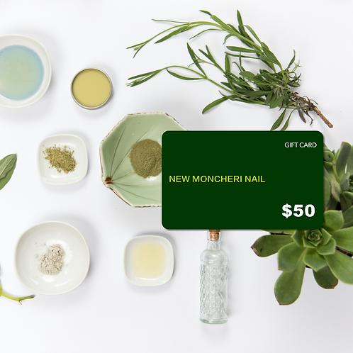 New Moncheri Nail Gift Card