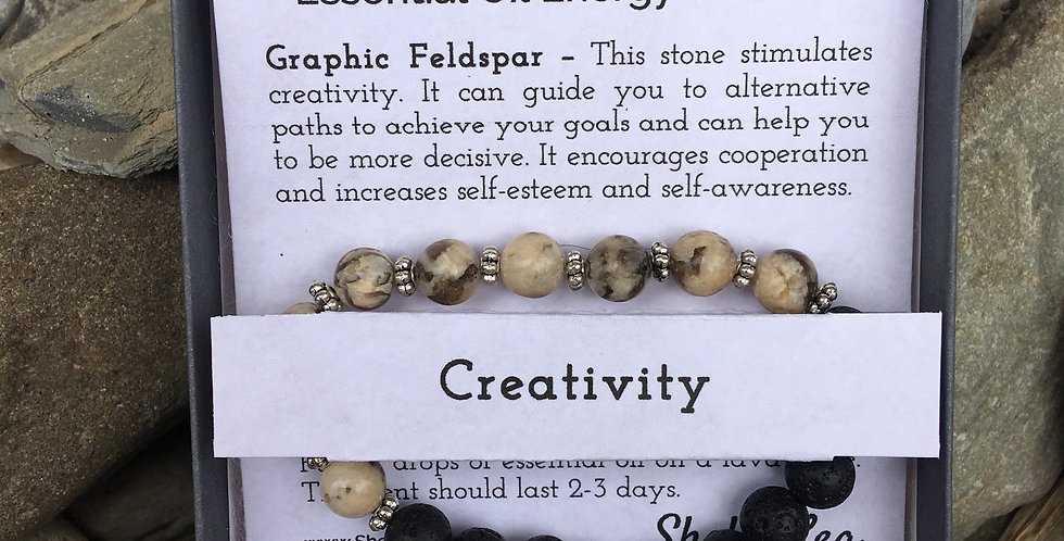 Creativity Essential Oil Stretch Bracelet