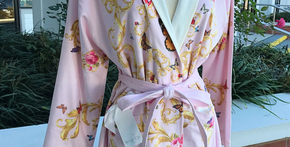 Pink Butterfly Short Robe