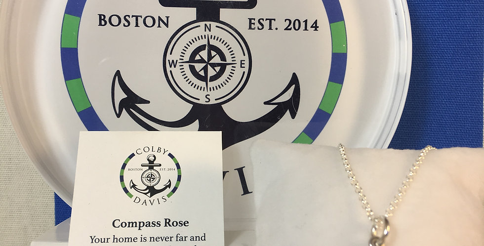 Compass Rose Small Pendant Necklace