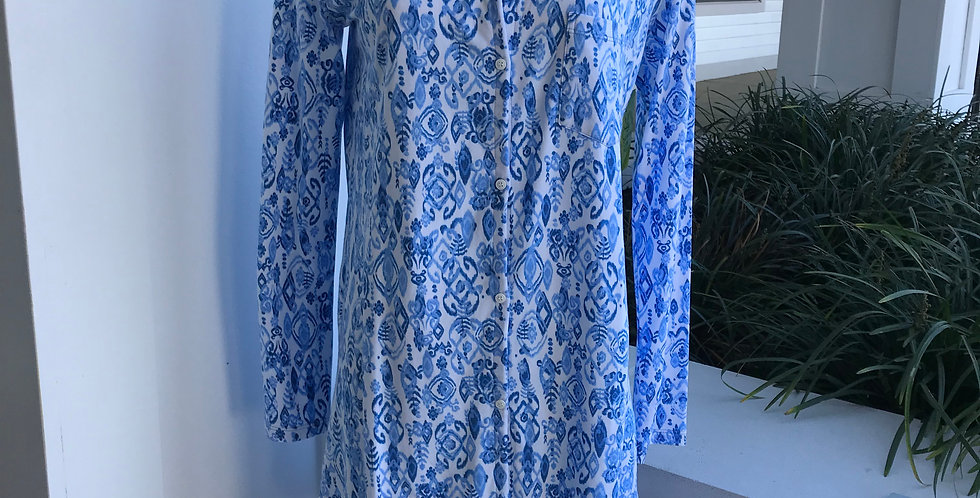 Floral Blue Nightgown
