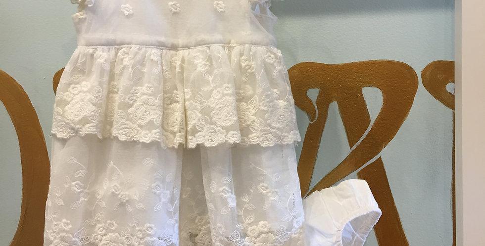 LACE BABY DRESS - CREAM
