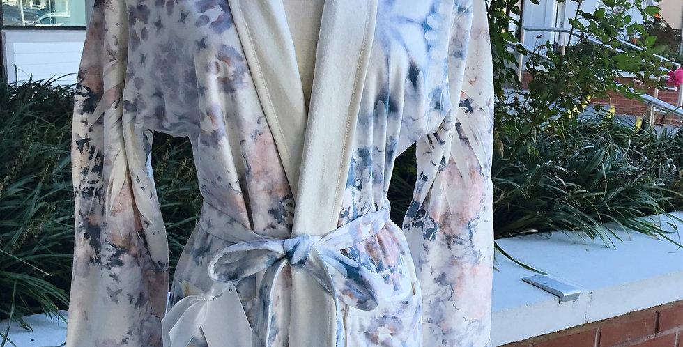 Earthy Watercolor Short Robe