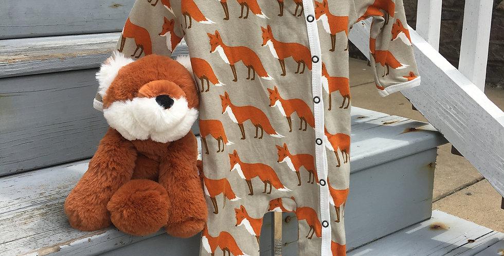 Fox PJ and Plush Stuffed Fox Set