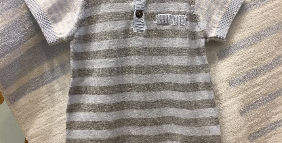 Blue Stripe Knitted Romper