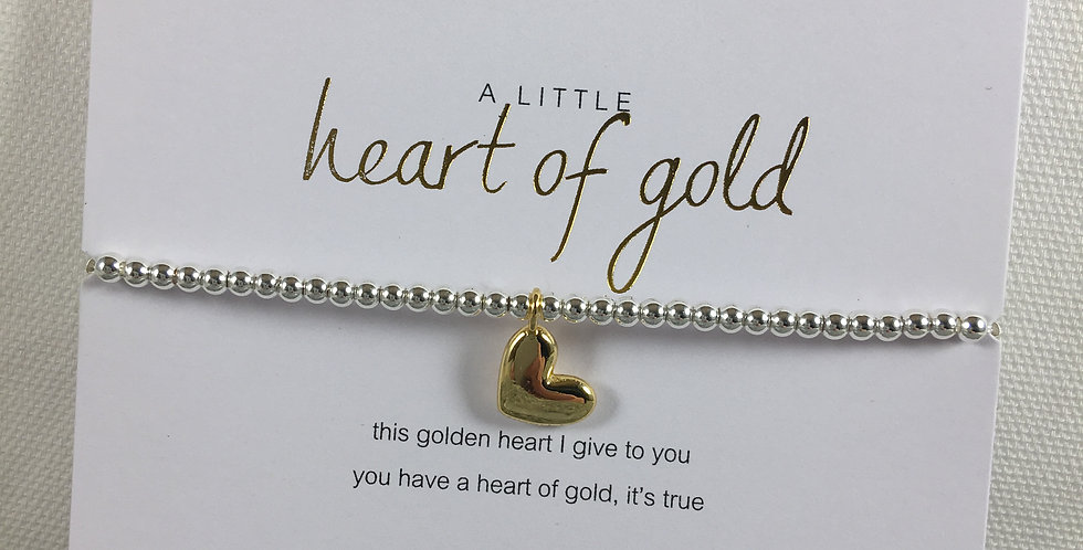 Heart of Gold Stretch Bracelet