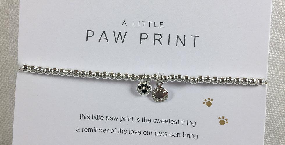 Paw Print Stretch Bracelet