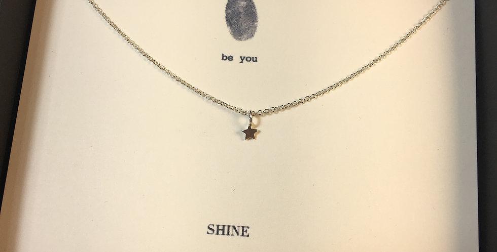 Shine Star Silver Necklace