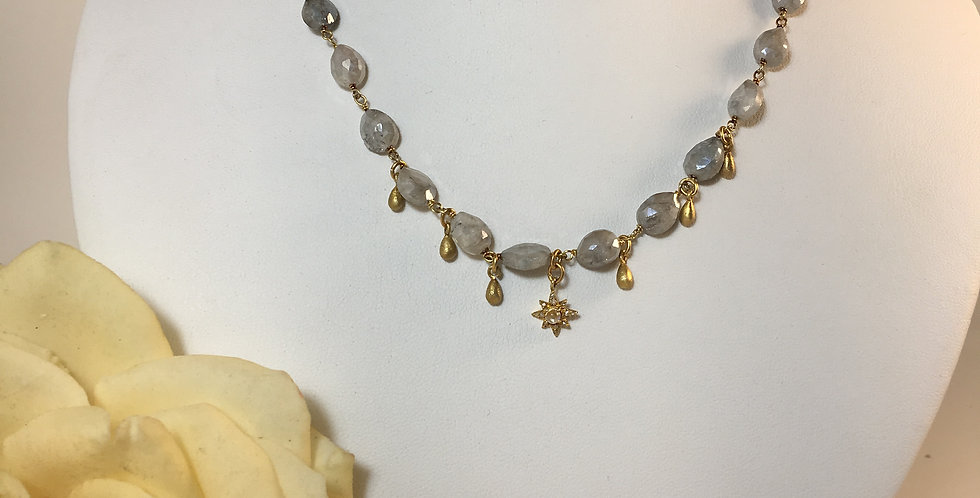 Mystique Quartz Droplet Necklace