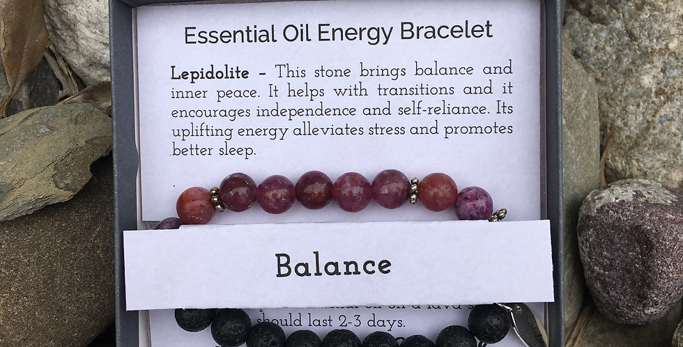 Balance Essential Oil Stretch Bracelet