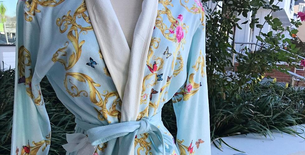 Blue Butterflies Short Robe