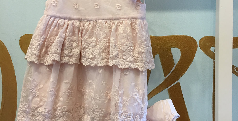 LACE BABY DRESS - PINK