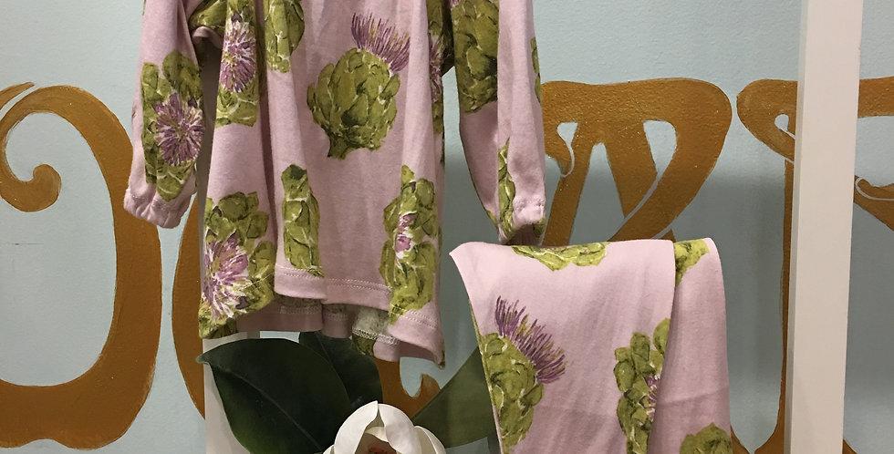 Artichoke Dress and Leggings Set