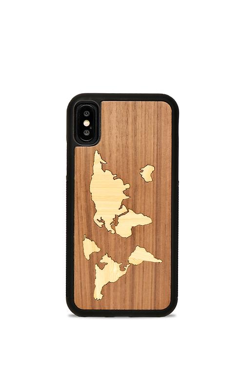 Coque en bois IPhone X/XS - La Mappemonde