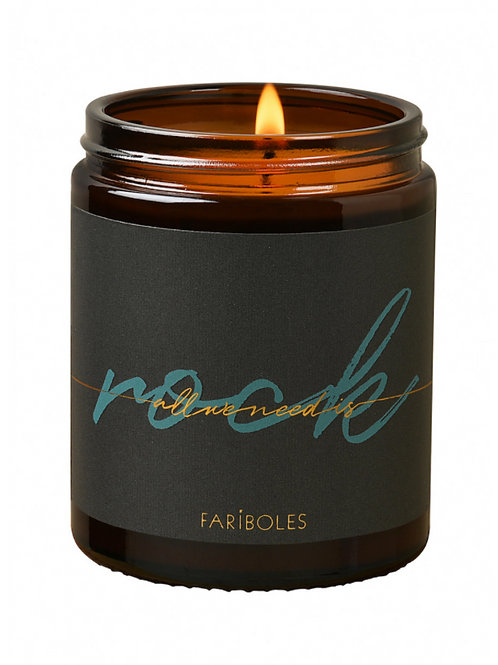 BOUGIE ALL WE NEED IS ROCK CACHEMIRE 140G - FARIBOLES
