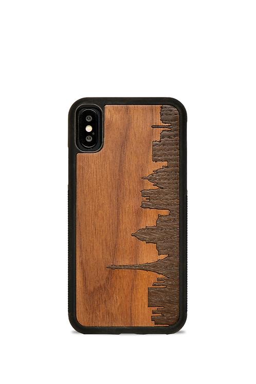 Coque en bois Iphone X/XS - Paris
