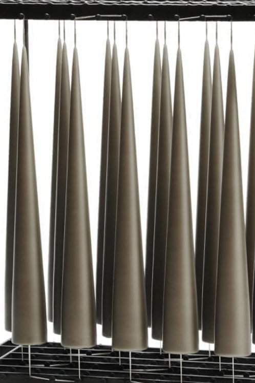 Bougies - Cônes gris foncés