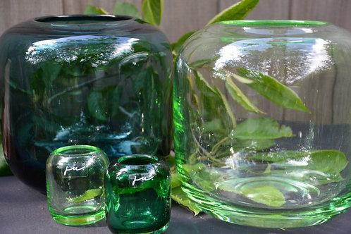 Vase Transparent - Aqua