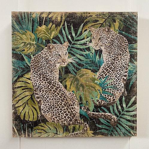 Leopard Jungle - Panneau