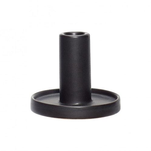 Bougeoir Porcelaine Noir haut - Hübsch