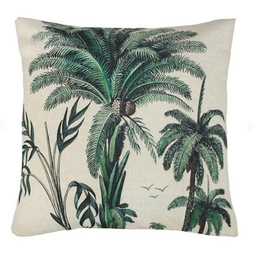 Coussin imprimé palmiers (45x45)