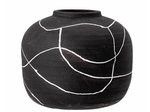 Niza Vase, Black, Terracotta