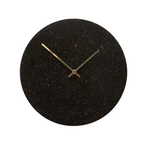 Horloge Marbre Noir - Hübsch