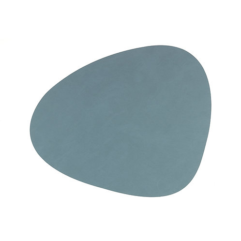 Set de Table Curve en Cuir recyclé Bleu clair