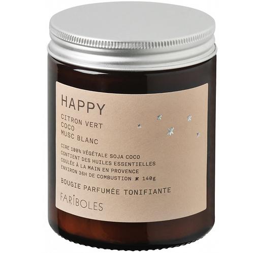 "Bougie ""happy"" - 140 g"