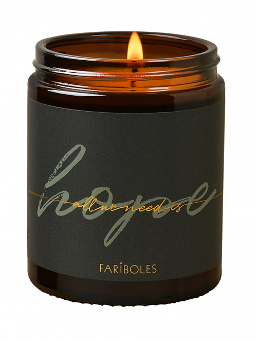 BOUGIE ALL WE NEED IS HOPE CACHEMIRE 140G - FARIBOLES