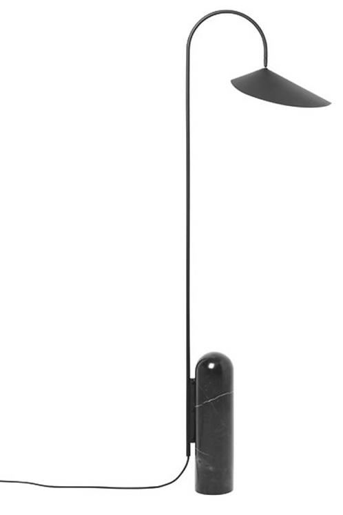 Lampadaire Arum noir
