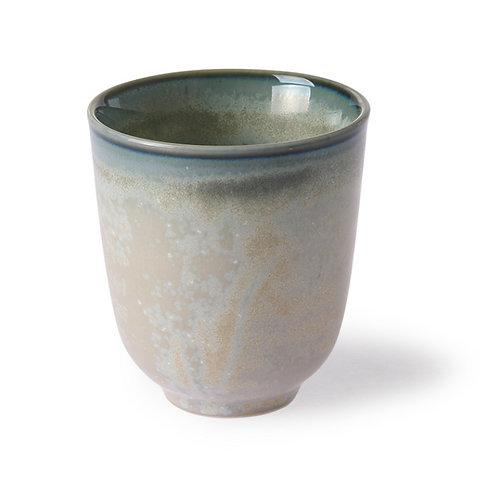 Home chef ceramics: mug gris / vert