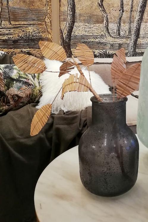 Vase en verre effet givré - Noir