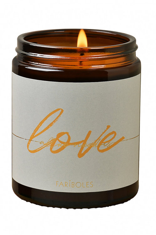 BOUGIE ALL WE NEED IS LOVE MUSC DES NEIGES 140G - FARIBOLES