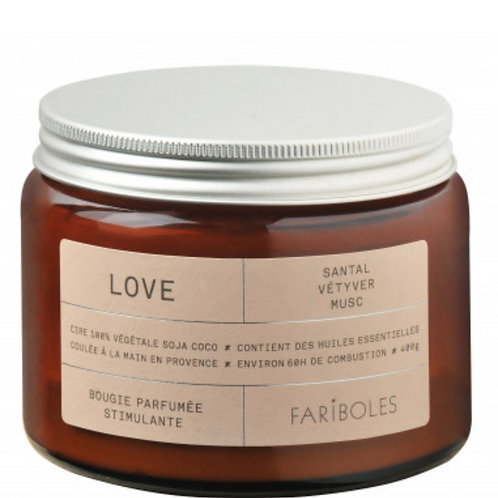 "Bougie ""love"" - 400g"