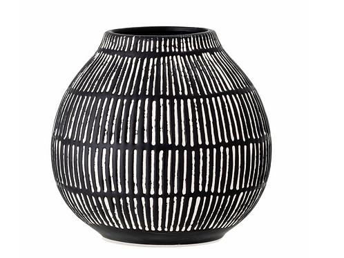 Vase Elveda, noir, Stoneware