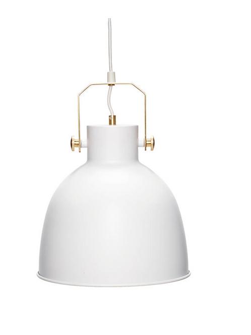 Lampe, blanc / or