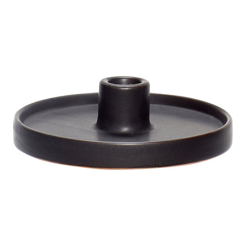 Bougeoir Porcelaine Noir bas - Hübsch