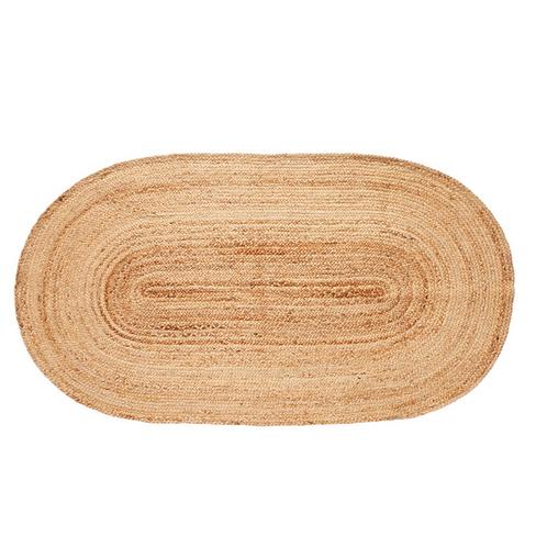 Tapis ovale en jute - Hübsch