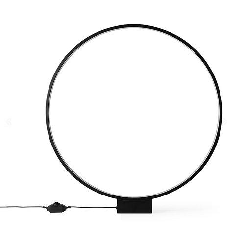Lampe de table cercle lumineux noir