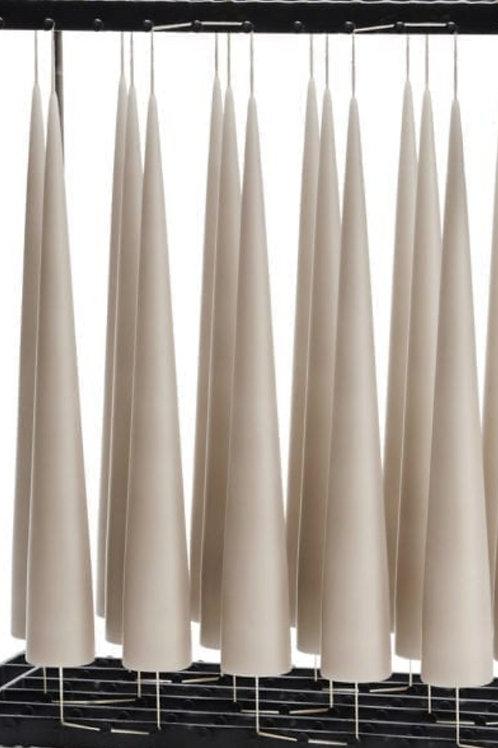 Bougies - Cônes gris claires