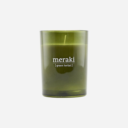 Bougie 220g - MERAKI - green herbal