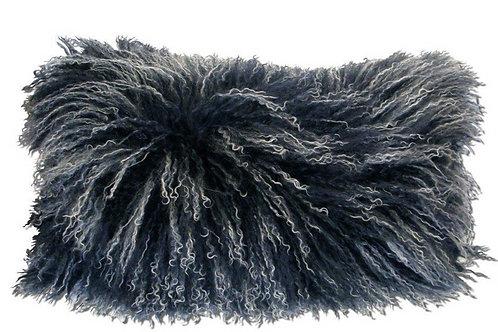Coussin décoratif en fourrure d'agneau de Mongolie