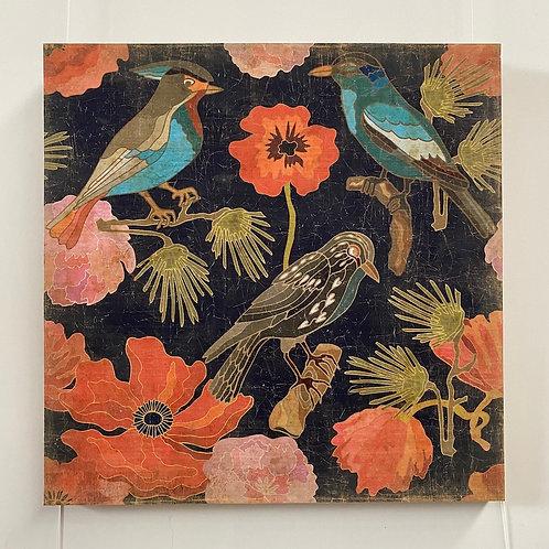 Oiseaux japonais - Panneau