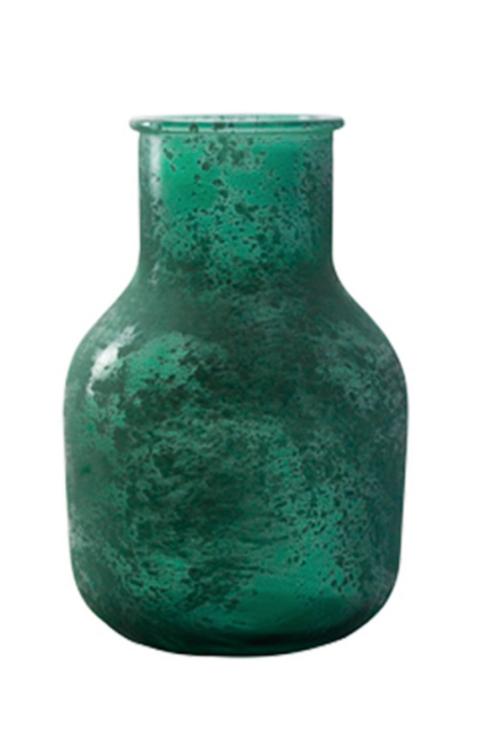 Vase en verre effet givré - Vert