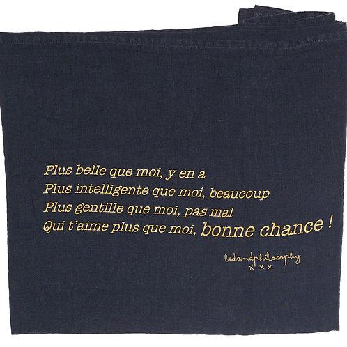 Plaid en Lin Charbon - Message