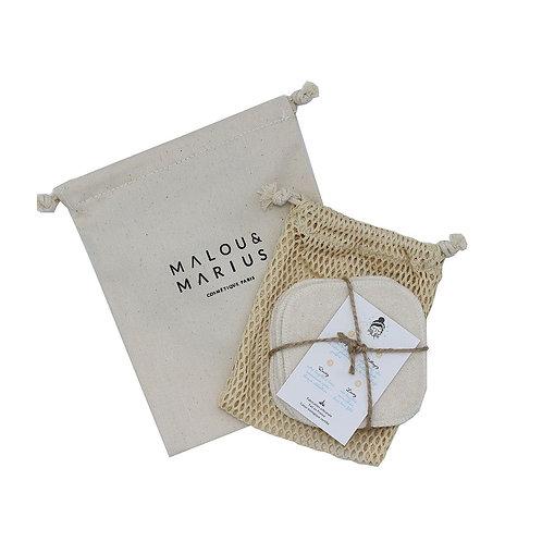 Kit Lingettes Démaquillantes lavables - Malou & Marius