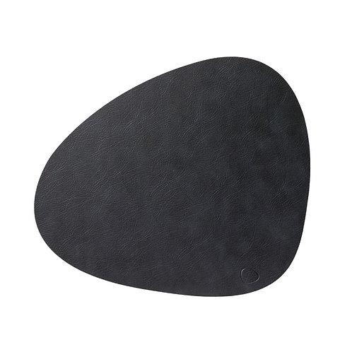 Set de Table Curve en Cuir recyclé Noir